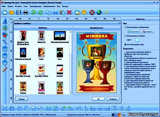 RonyaSoft Poster Designer 2.01.04 Portable
